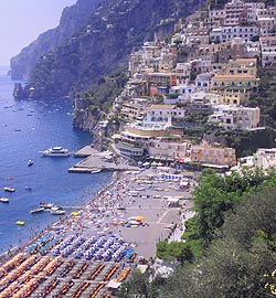 scenic view of positano harbour